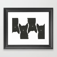 Black Cats Framed Art Print
