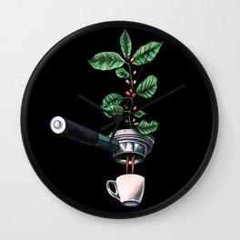 Coffee Plant Design Espresso Barista Wall Clock