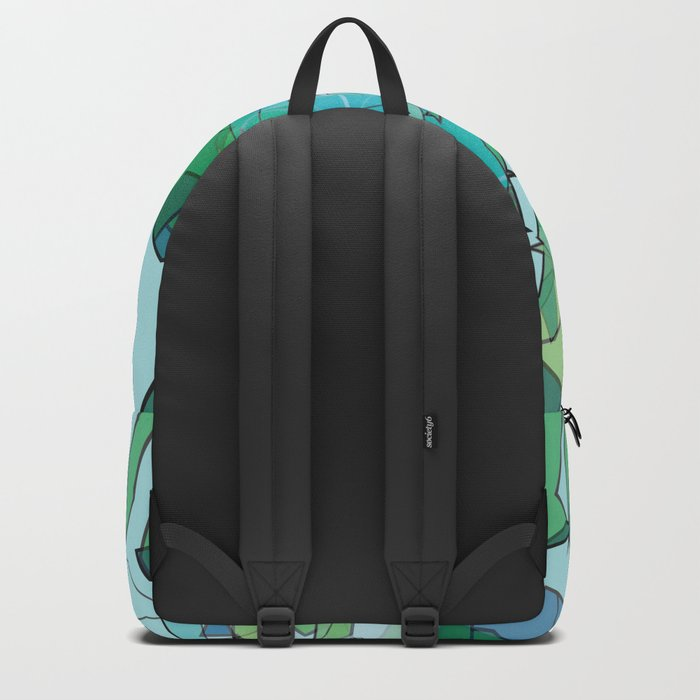 Polygonal lake with pines Backpack