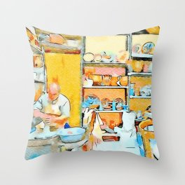 Ceramist craftsman Throw Pillow