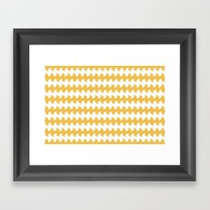 jaggered and staggered in mimosa Framed Art Print