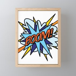 Comic Book Pop Art BOOM Framed Mini Art Print