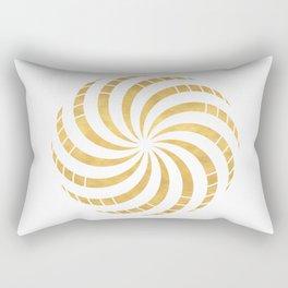 GOLD TORUS circular sacred geometry Rectangular Pillow