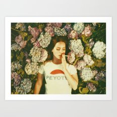 Flowers & Cigarettes iPhone Design Art Print