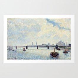 Camille Pissarro Charing Cross Bridge, London Art Print