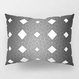 Black and White Leather Texture Diamond Pattern Pillow Sham
