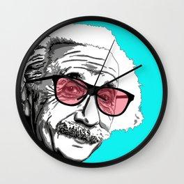 Einstein in summer Wall Clock