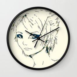 retro space chik Wall Clock