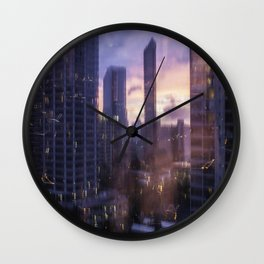 good vibes from hawaii Wall Clock
