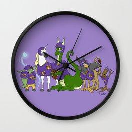 Fantasy Football Cartoon Wall Clock