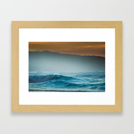 Surf on north shore Hawaii Framed Art Print