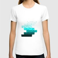 aqua T-shirts featuring Aqua by Luca Giobbe