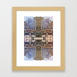 Downtown Mirrored Framed Art Print