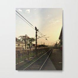 Sunrise at the Train Station Metal Print