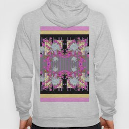 Yellow Art White Spider Mums Pink Flowers Garden Art Hoody