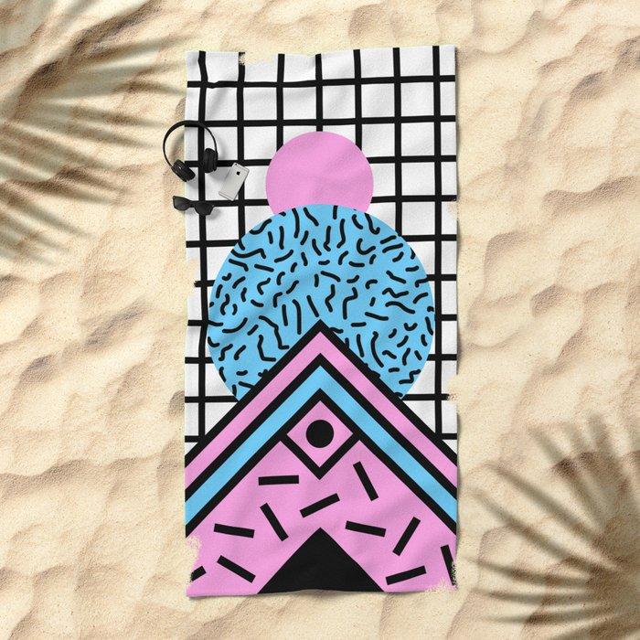 Flux circus Beach Towel