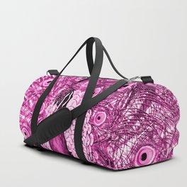 Pink Peacock Duffle Bag
