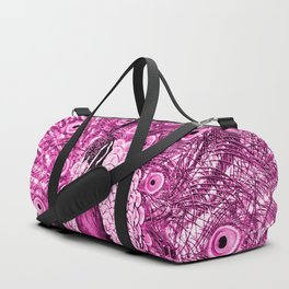 Pink Peacock Duffle Bag