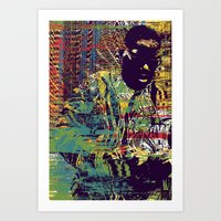 biggie Art Prints featuring BIGGIE by Jeremy Richie