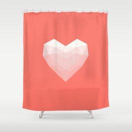 Modern Love - White on Pink Shower Curtain