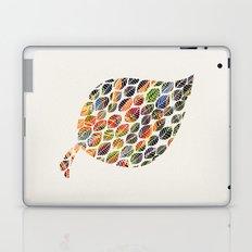 Leafy Palette Ecru Laptop & iPad Skin