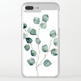 Eucalyptus One Clear iPhone Case