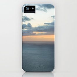 Dramatic sky and beautiful sunset over Atlantic ocean in Madeira island, Portugal. iPhone Case
