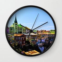 Cerro Conception, Valparaiso, Chile Wall Clock