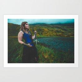 Lady & The Loch Art Print
