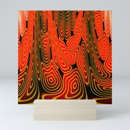 Molten lava Mini Art Print