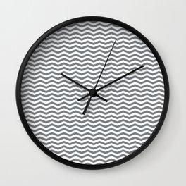 Chevron Navy Wall Clock