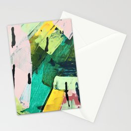 Hopeful[4] - a bright mixed media abstract piece Stationery Cards