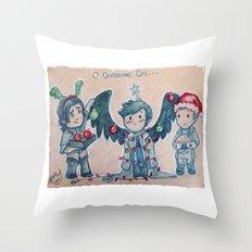 O Christmas Cas Throw Pillow