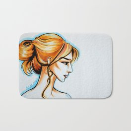 blonde girl Bath Mat