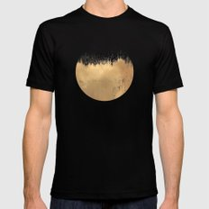 Brushed Gold Black LARGE Mens Fitted Tee