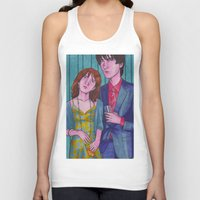 hermione Tank Tops featuring Party Hard (Neville and Hermione) by Anna Gogoleva