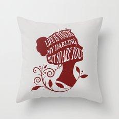 Beautiful Girls Quote Throw Pillow
