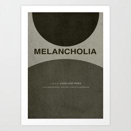 Melancholia - MINIMALIST POSTER Art Print