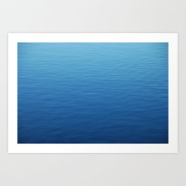 Where did all the waves go? Art Print