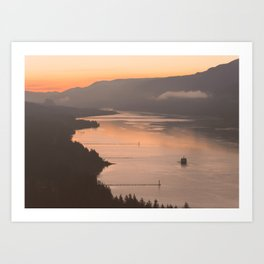 Pacific Northwest Sunrise - nature photography Art Print