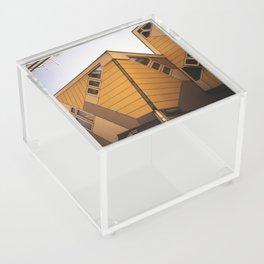 Cube houses Acrylic Box