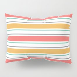 Minimal Abstract Lucite green, Coral, Grey, Honey, and White 06 Pillow Sham