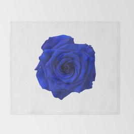 blue rose Throw Blanket