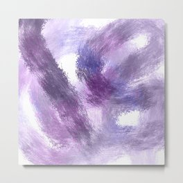 Purple Watercolor Abstract Art Metal Print