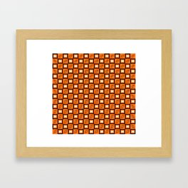 Pattern Cube Yellow Framed Art Print