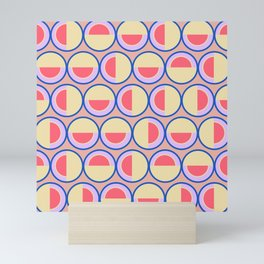 Circles and semicircles Mini Art Print