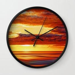 Irish Sea Sunset Wall Clock