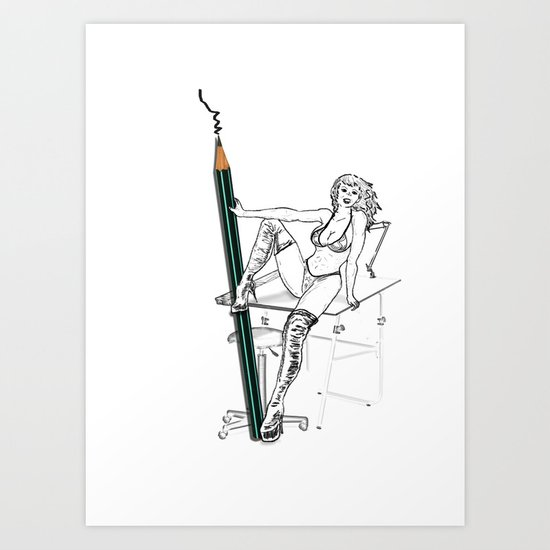 what a big pencil you have Art Print
