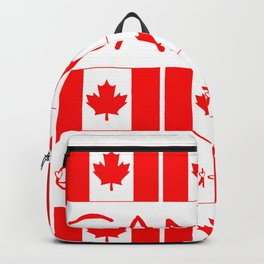 Canada Day Maple Leaf Pattern Canadian Flag Backpack
