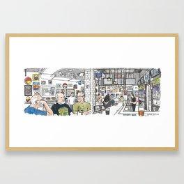 University of Beer, Davis Framed Art Print